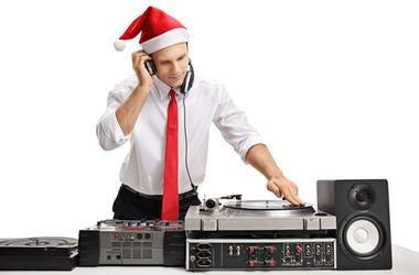 Guy Playing Christmas Music