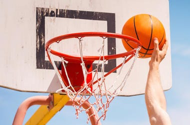 Dunk, Basketball, Hoop, Outdoors