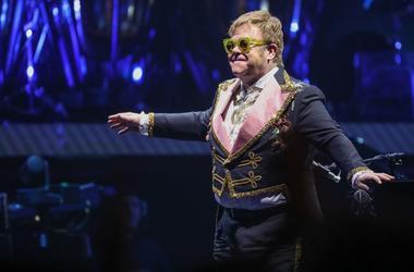 Sir Elton John performs