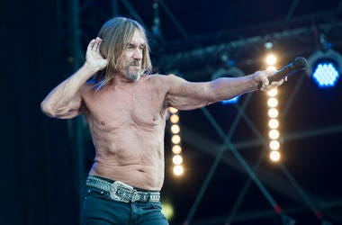 Iggy Pop performs on stage