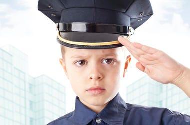 Child police officer
