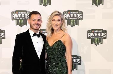 Kyle Larson and Katelyn Larson