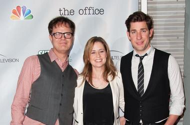 Rainn Wilson, Jenna Fischer and John Krasinski