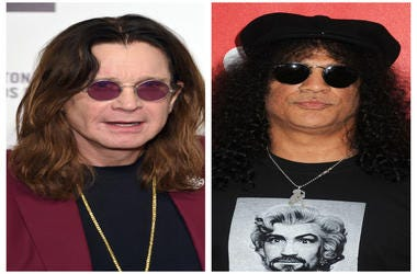 (Left) Ozzy Osbourne, (Right)Slash, Saul Hudson, Guns N' Roses