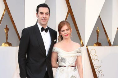 Sacha Baron Cohen (left) and Isla Fisher