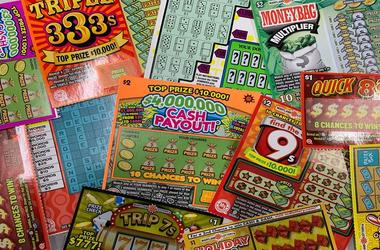 Lottery scratch-off tickets