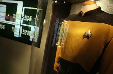 Data, Uniform, Star Trek, Transporter Room, Detroit Science Center, Display