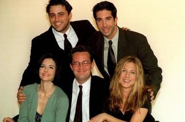 Friends, NBC, Matt LeBlanc, David Schwimmer, Courteney Cox, Matthew Perry, Jennifer Aniston