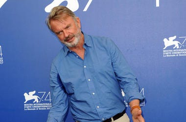 Sam Neill, Red Carpet, Venice Film Festival, Beard, Gesture, 2017