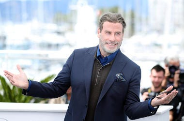 John Travolta, Smile, Suit, Cannes