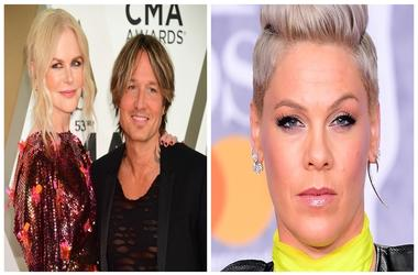(Left) Nicole Kidaman and Keith Urban, Pink (Right)