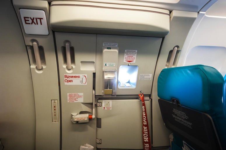 Airplane, Plane, Emergency Exit, Door