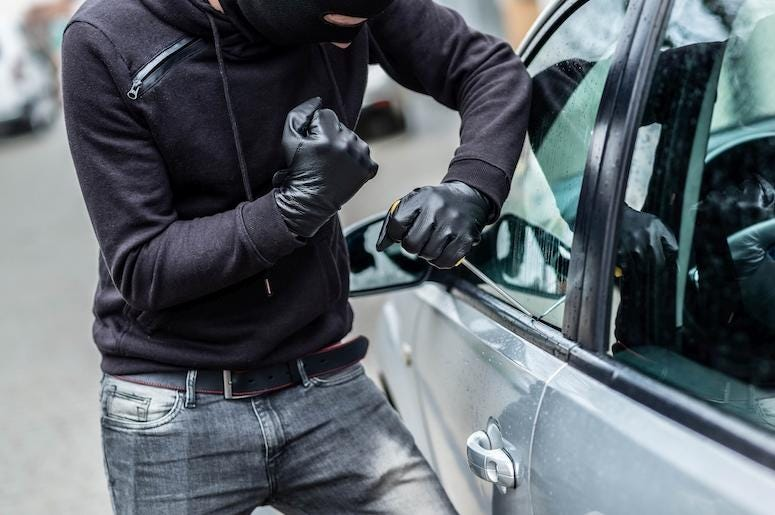 Car Burglar, Robbery, Break In, Mask, Screwdriver, Thief, Car Thief