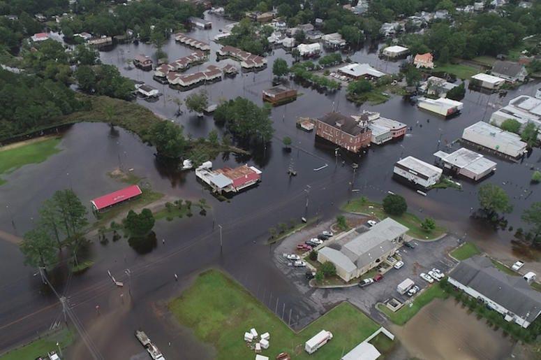 Hurricane Florence, North Carolina, Flooded, Streets, Neighborhood
