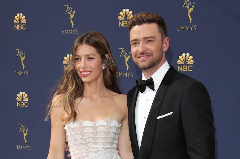 Jessica Biel, Justin Timberlake, Red Carpet, 70th Emmy Awards, 2018