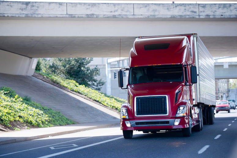 Truck, Big Rig, Road, Driving, Bridge, Highway