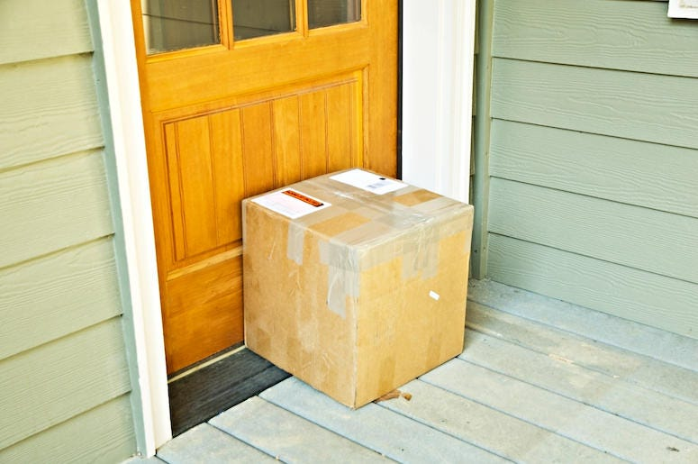 Package, Delivery, Front Door, Porch, Box
