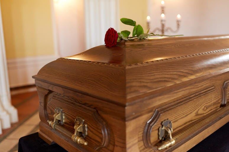 Coffin, Church, Flower