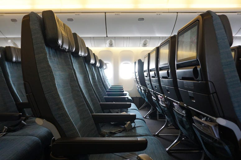 Airplane, Cabin, Seats, Empty