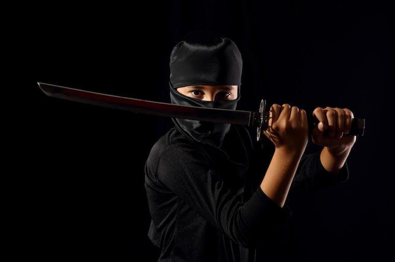 Ninja, Sword, Katana