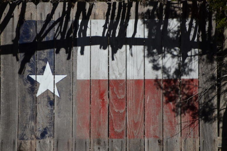 Texas, Flag, Cedar Planks, Wood, Painted