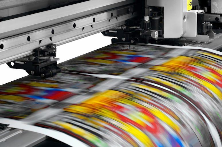 Printer, Paper, Colorful