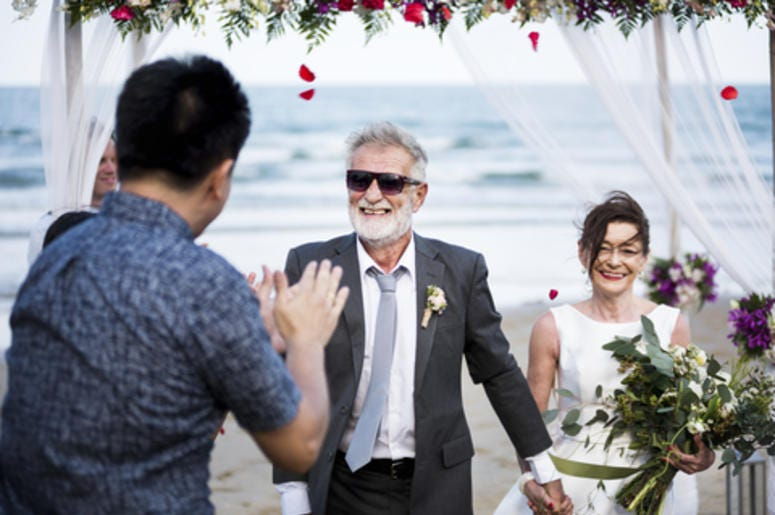 Senior Couple Getting Married
