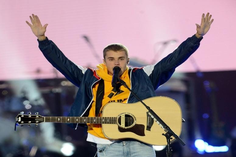 ustin Bieber performs in 'One Love Manchester' benefit concert