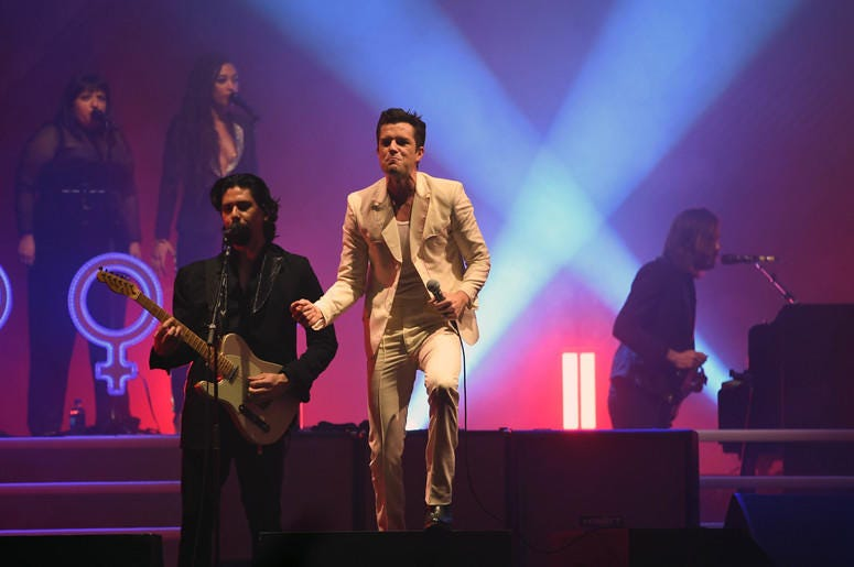 Brandon Flowers of The Killers performs