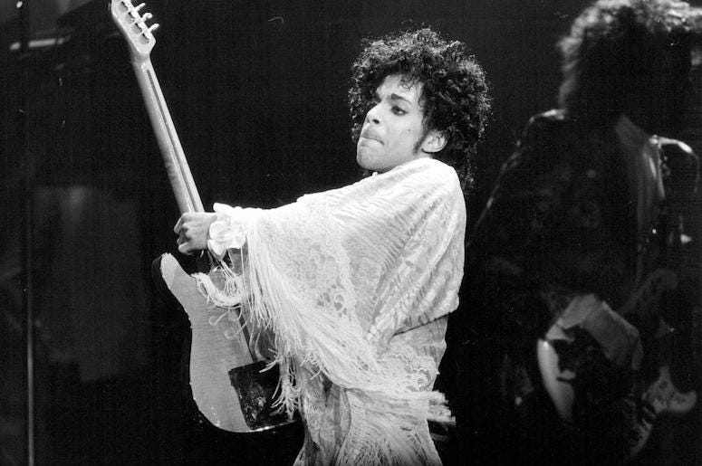 Prince, Guitar Solo, Concert, Performing, St. Paul Civic Center, 1984