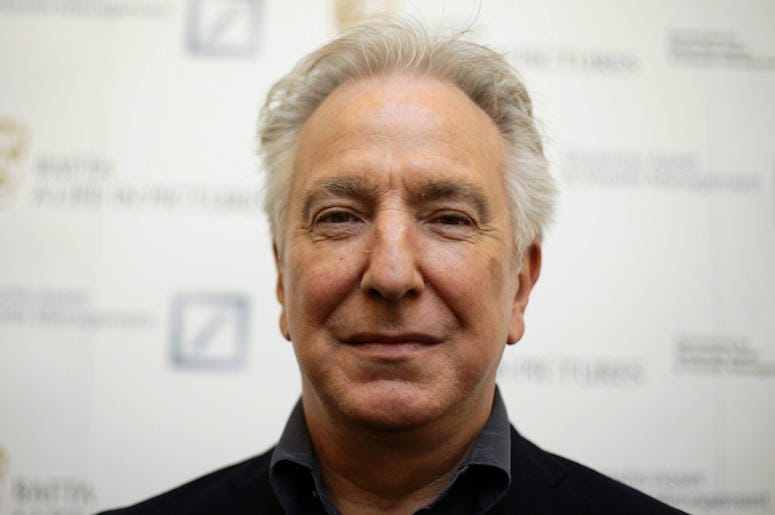 Alan Rickman, Close Up, Face, Smile