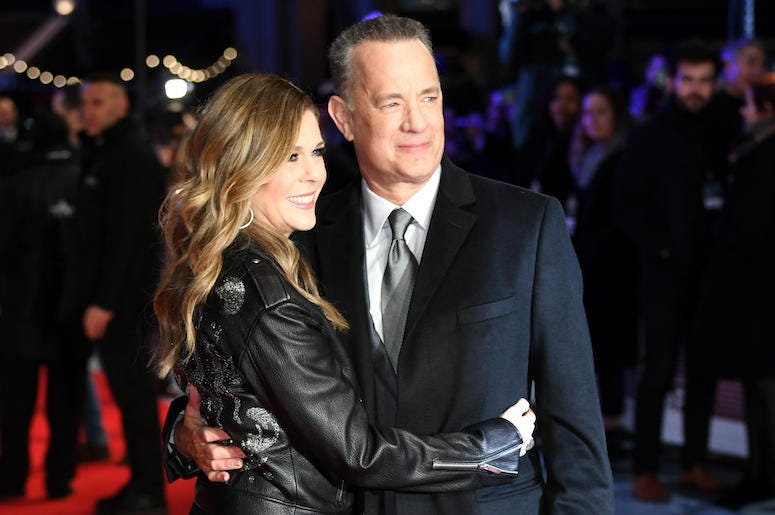 Tom Hanks, Rita Wilson, Hugging