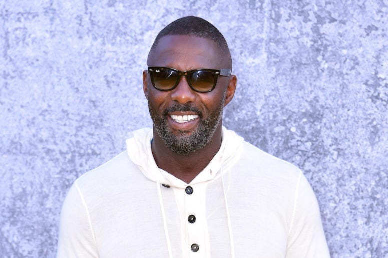 Idris Elba, Sunglasses, White Hoodie, Smile, Red Carpet, Yardie, Premiere
