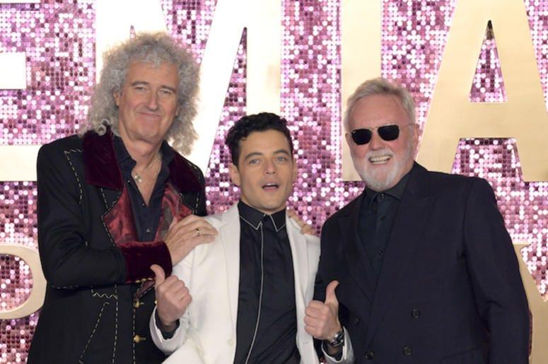 Brian May, Rami Malek, Roger Taylor, Queen, Bohemian Rhapsody, World Premiere, 2018
