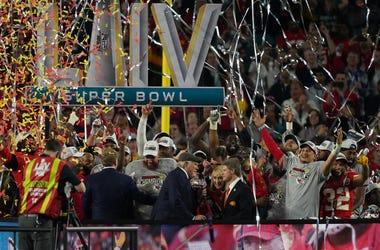 The Kansas City Chiefs celebrate Super Bowl LIV at Hard Rock Stadium