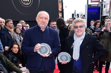 The Who's Pete Townshend and Roger Daltrey during the Music Walk of Fame founding stone and first recipients unveilings at the Jazz Cafe in Camden, London.