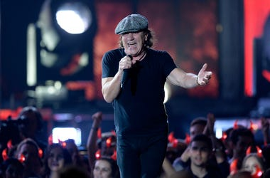 Singer Brian Johnson of AC/DC performs onstage during The 57th Annual GRAMMY Awards