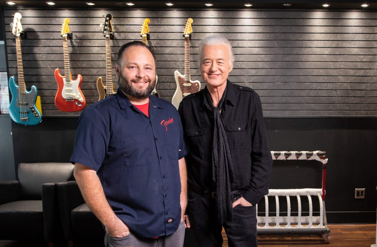 Paul Waller and Jimmy Page