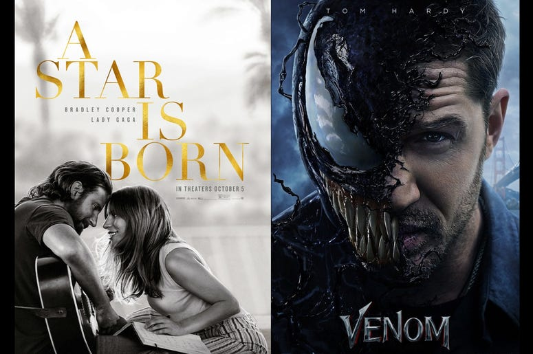 A Star Is Born and Venom Movie Review