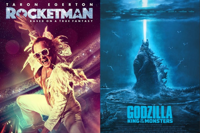 Godzilla and Rocketman