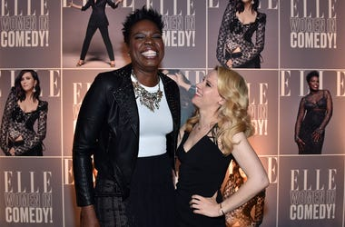 WEST HOLLYWOOD, CA - JUNE 07: Actors Leslie Jones (L) and Kate McKinnon attend ELLE Women In Comedy event hosted by ELLE Editor-in-Chief Robbie Myers and Leslie Jones, Melissa McCarthy, Kate McKinnon and Kristen Wiig on June 7, 2016 at Hyde Sunset in Los