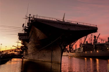 USS Hornet Museum Ship at Alameda dock © Tkay