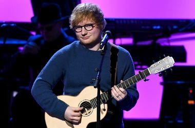NEW YORK, NY - JANUARY 30: Recording artist Ed Sheeran performs onstage during the 60th Annual GRAMMY Awards - I'm Still Standing: A GRAMMY Salute To Elton John at the Theater at Madison Square Garden on January 30, 2018 in New York City. (Photo by Noam G