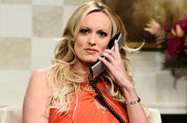 "This image released by NBC shows adult film actress Stormy Daniels during an appearance on ""Saturday Night Live"" in New York on Saturday, May 5, 2018. (Will Heath/NBC via AP)"