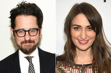 This combination photo shows filmmaker J.J. Abrams at HBO's Night of Too Many Stars in New York on Nov. 18, 2017, left, and singer-songwriter Sara Bareilles at Tribeca Talks with John Legend during the 2018 Tribeca Film Festival in New York on April 19, 2