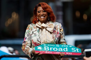 "Singer Patti LaBelle smiles after a ceremony naming a street after her, Tuesday, July 2, 2019, in Philadelphia. A stretch of Broad Street, between Locust and Spruce Streets, will be renamed ""Patti LaBelle Way."" (AP Photo/Matt Slocum)"