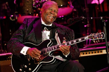 In this June 20, 2008 file photo, musician B.B. King performs at the opening night of the 87th season of the Hollywood Bowl in Los Angeles. (AP Photo/Dan Steinberg, File)
