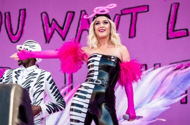 This April 27, 2019 file photo shows Katy Perry at the New Orleans Jazz and Heritage Festival in New Orleans. (Photo by Amy Harris/Invision/AP, File)