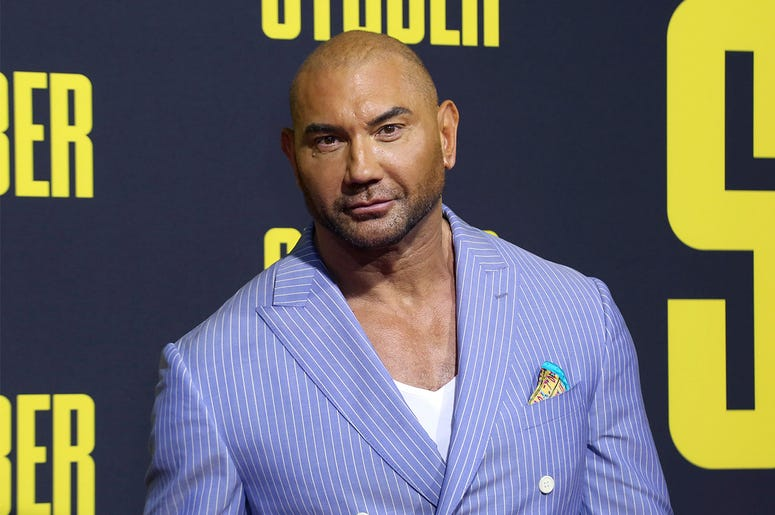 "In this July 10, 2019, file photo, Dave Bautista attends the LA Premiere of ""Stuber"" at the Regal LA Live on Wednesday, July 10, 2019, in Los Angeles. (Photo by Willy Sanjuan/Invision/AP, File)"