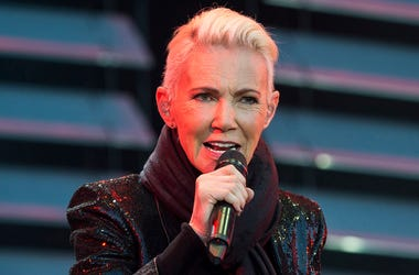 In this file photo dated July 18, 2015, Marie Fredriksson, singer of the pop duo Roxette. Fredriksson has died, aged 61 after a long illness, according to an announcement Tuesday Dec. 10, 2019. (Suvad Mrkonjic / TT via AP)